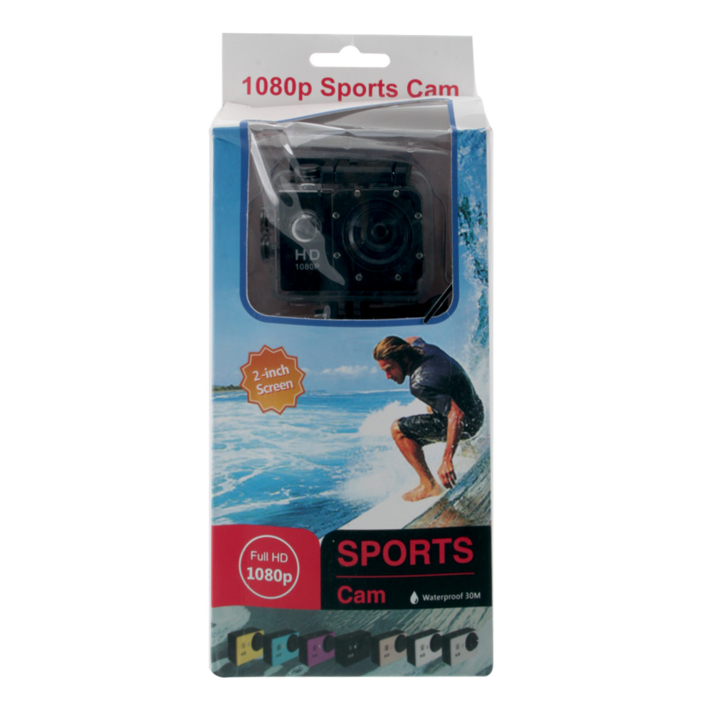 Экшн-камера Sports Cam X6000 Full HD, 30FPS, 2'', 140º, черная