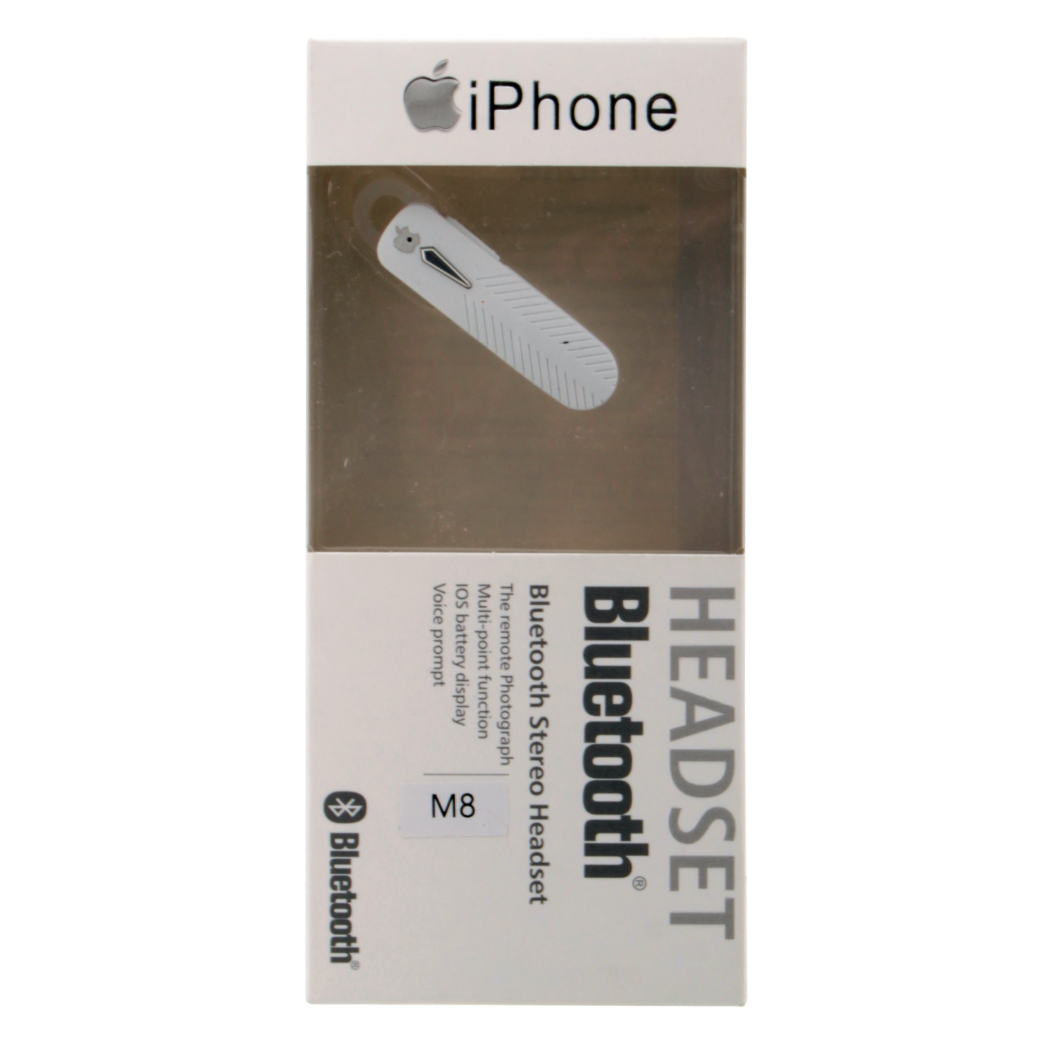 Bluetooth hands free iPhone белый