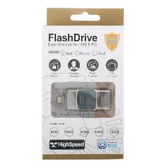 К.П. USB 32 Гб для iOs/Android/Mac, PC FlashDrive LXM L03/L06 серебро