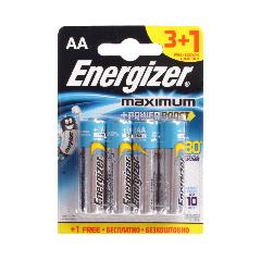 Элемент питания LR6 Energizer Maximum (3+1 на блистере)