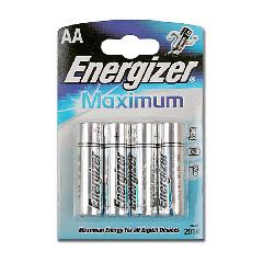 Элемент питания LR6 Energizer Maximum (4 на блистере)