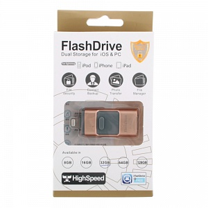 К.П. USB 32 Гб для iOs/Android/Mac, PC FlashDrive LXM L03/L06 золото