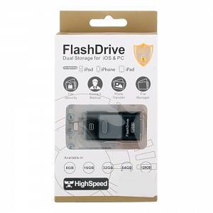К.П. USB 64 Гб для iOs/Android/Mac, PC FlashDrive LXM L03/L06 черная
