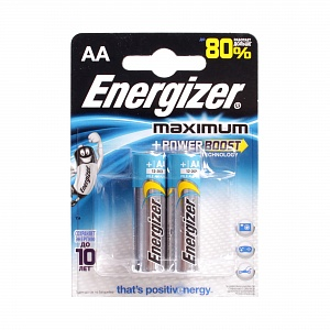 Элемент питания LR6 Energizer Maximum (2 на блистере)