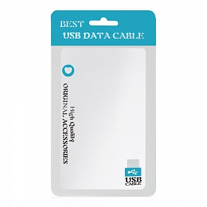 Пакет Zip-lock Best USB data cable 9x16 см голубой