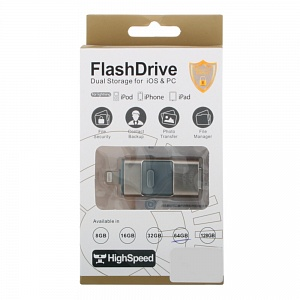 К.П. USB 64 Гб для iOs/Android/Mac, PC FlashDrive LXM L03/L06 серебро