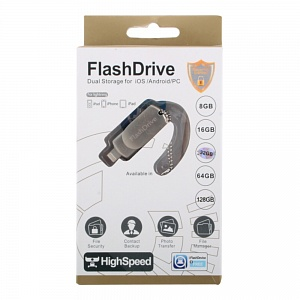 К.П. USB 32 Гб для iOs/Android/Mac, PC FlashDrive LXM L07 золото