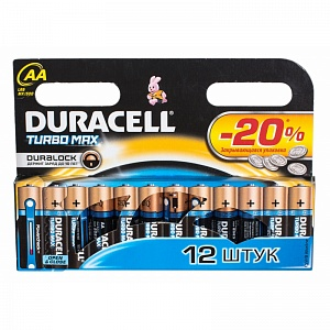 Элемент питания LR6 Duracell Turbo (12 на блистере,144)