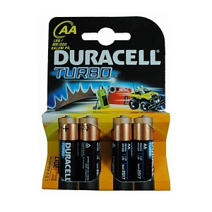 Элемент питания LR6 Duracell Turbo (4 на блистере,40,120)